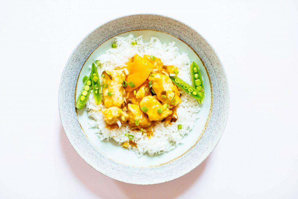 <pre></noscript>Pollo a la naranja sin gluten (o tofu)