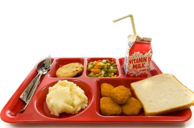 Esto no es lo que debería ser un almuerzo escolar saludable, saludable y nutritivo.